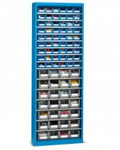 FAK208052 - PERFOM típusú szekrény tárolókkal ajtók nélkül - DIM. MM W=700 D=270 H=2000