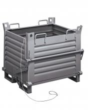 FML011100 - Alul üríthető acélkonténer - DIM. MM W=1000 D=800 H=800 - Szín: szürke RAL7000