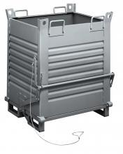 FML012100 - Alul üríthető acélkonténer - DIM. MM W=1000 D=800 H=1150 - Szín: szürke RAL7000